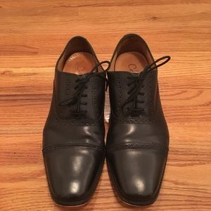 Cole Haan black leather dress shoes size 10